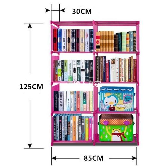 Harga Murah Meriah Rak Buku Serbaguna Dua Sisi Rak Portable Mudah Dibongkar Pasang Asli