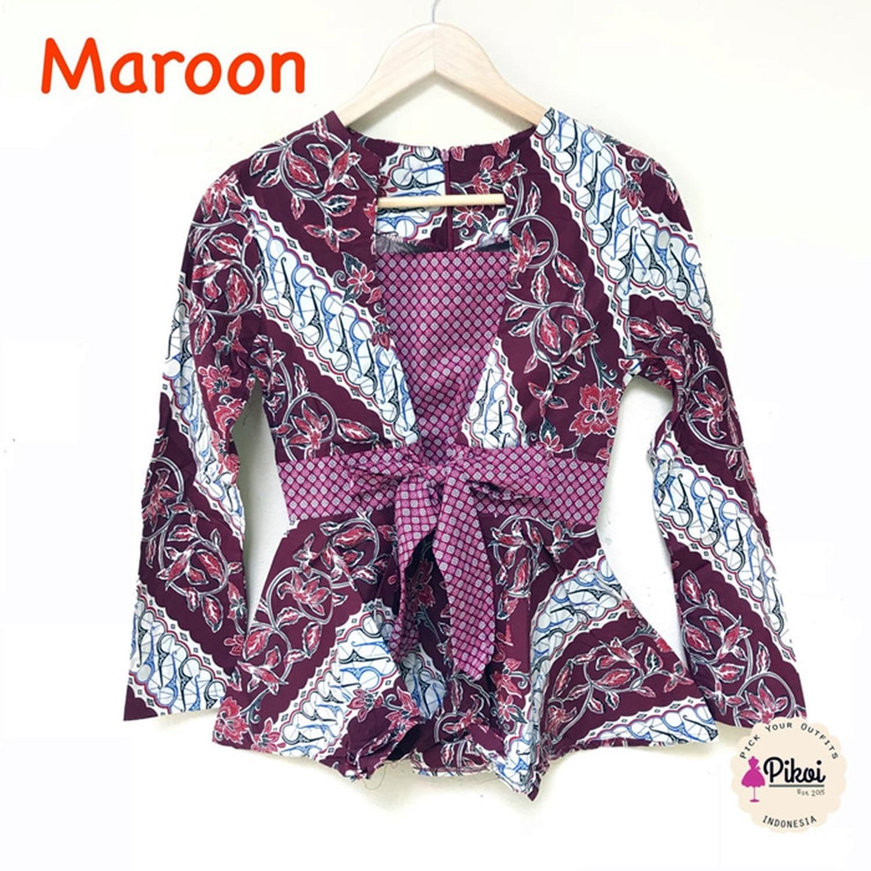 Permalink to Model Baju Batik Wanita Lengan Panjang Free Ongkir