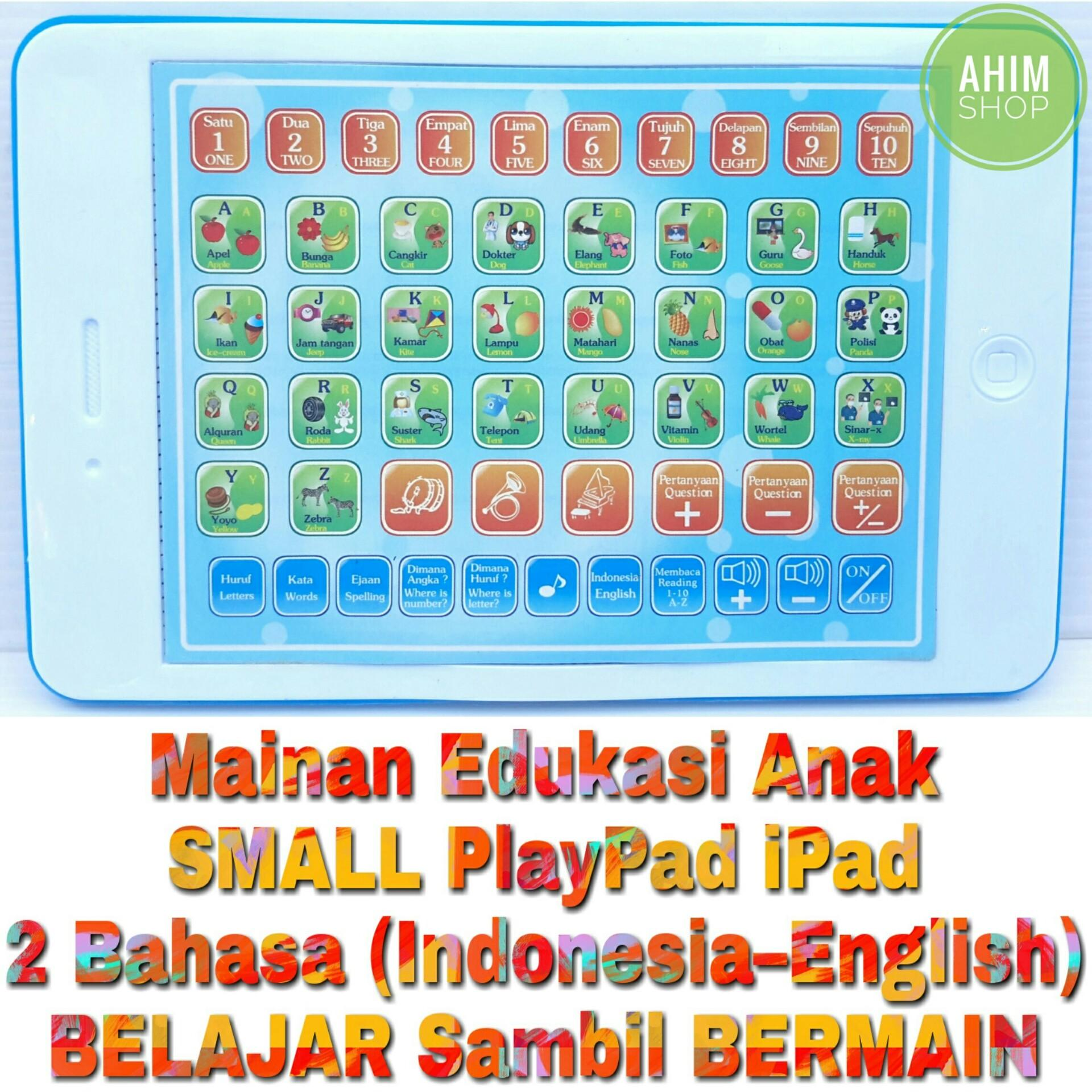 (White) Mainan Edukasi Anak 18 Fungsi SMALL PlayPad iPad 2 Bahasa (Indonesia- ...