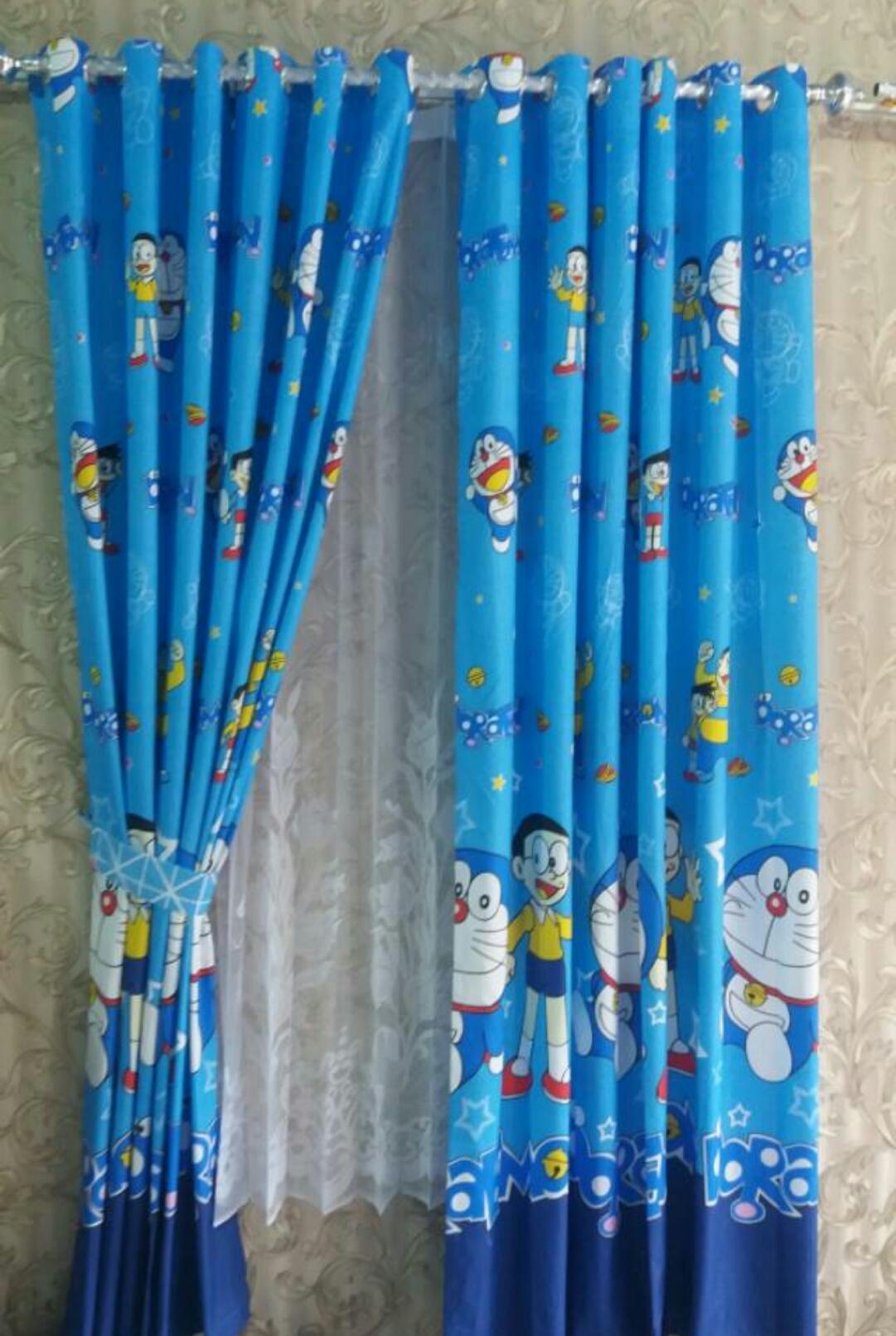 Features Gorden Doraemon Biru Muda Tirai Jendela Pintu Minimalis Karakter Hello Kitty Karakterdoraemonbirumudatiraijendelapintuminimalis