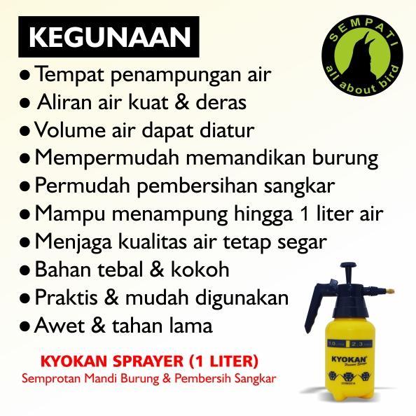Semprotan Air Mandi Burung 1 Liter Kyokan - 2