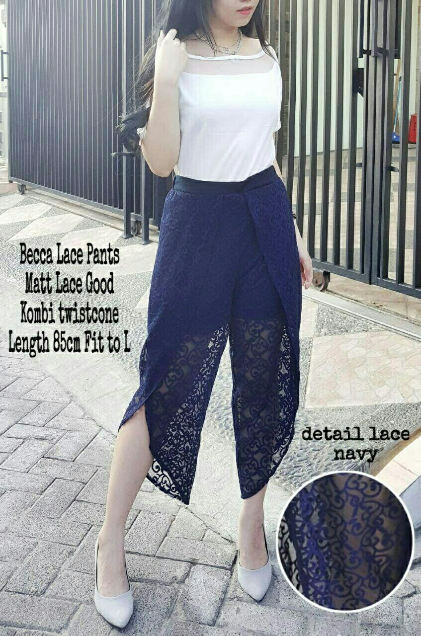 Ladies Fashion BARU Celana wanita Lace Bahan Bagus Import / Celana Murah Korea brukat / Bawahan