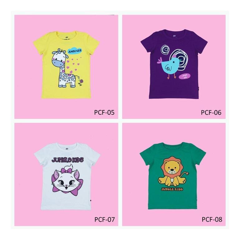 Beli Jungle Kids Kaos Anak Perempuan 1 Set Isi 4 Pcs Terbaru