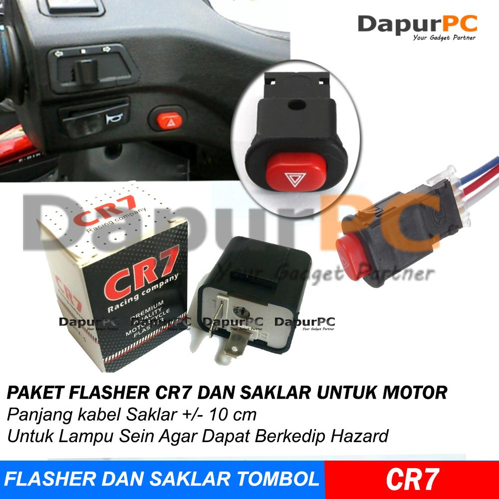 PAKET Termurah Flasher CR7 + Saklar Tombol On Off Lampu Hazard dan Lain-lain Untuk