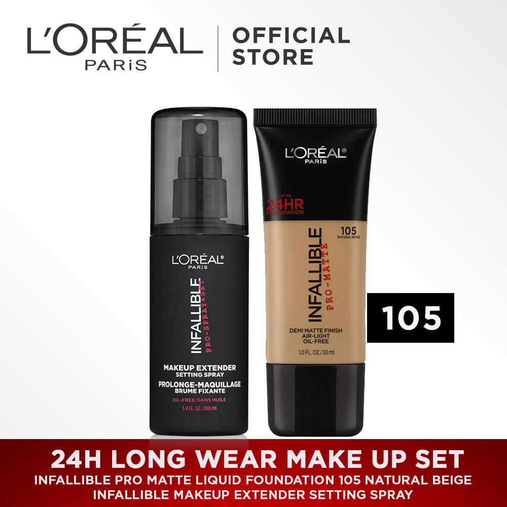 L'oreal Paris 24H Long Wear Make Up Set : Infallible Pro Matte Liquid Foundation