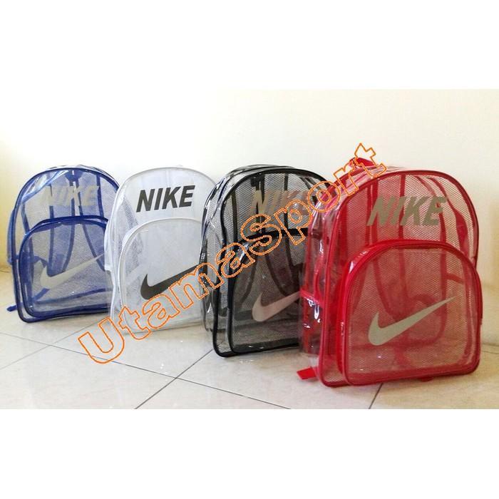 Tas Ransel Adidas Nike Transparan Bening U/ Olahraga Gym Renang Dll - Rs71x2