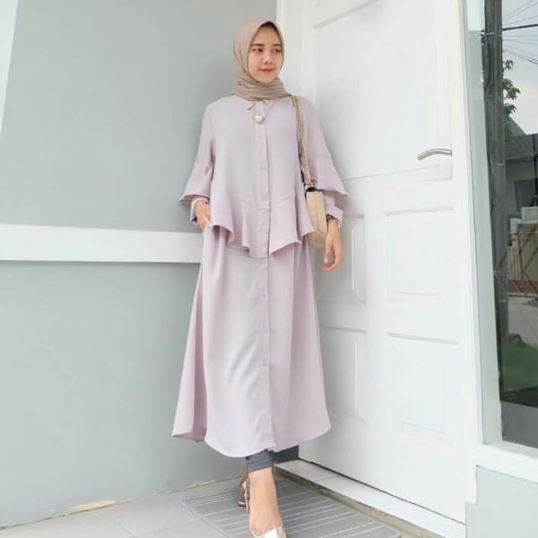 Fitur Long Tunik Dewata Baju Muslim Murah Terbaru 2018 Grosir