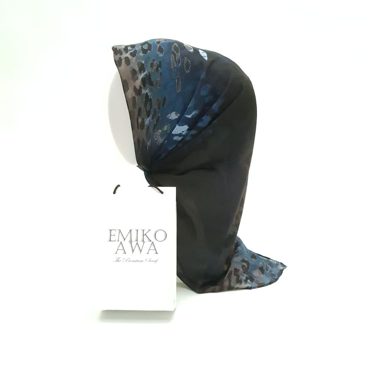 Jilbab Segiempat Motif BlackPanter - Emikoawa - Ceruti