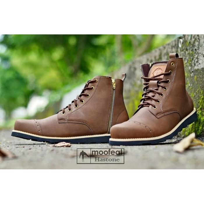 Kehebatan Sepatu Boots Bikers Touring Moofeat Hastone Origonal Promo ... d4a9976af4