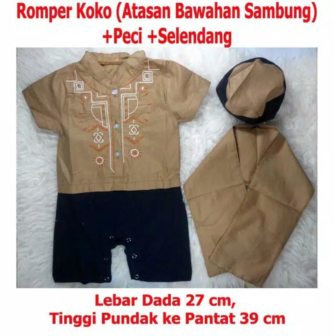 Harga Koko Romper Bayi Baju Bayi Jumper Bayi Plus Peci Anak Murah