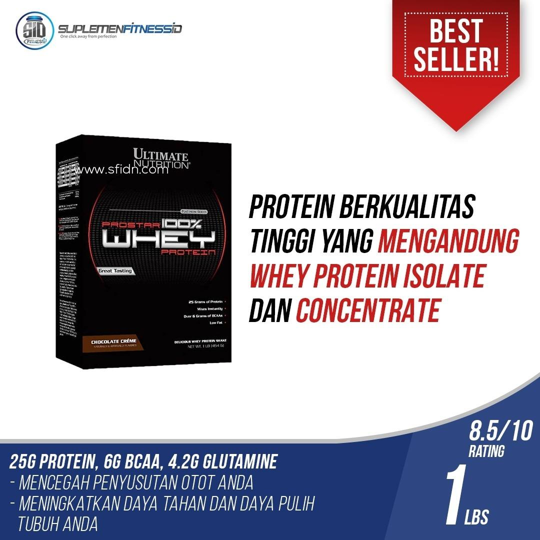 Review Ultimate Nutrition 100 Prostar Whey Protein 1 Lbs Terbaru