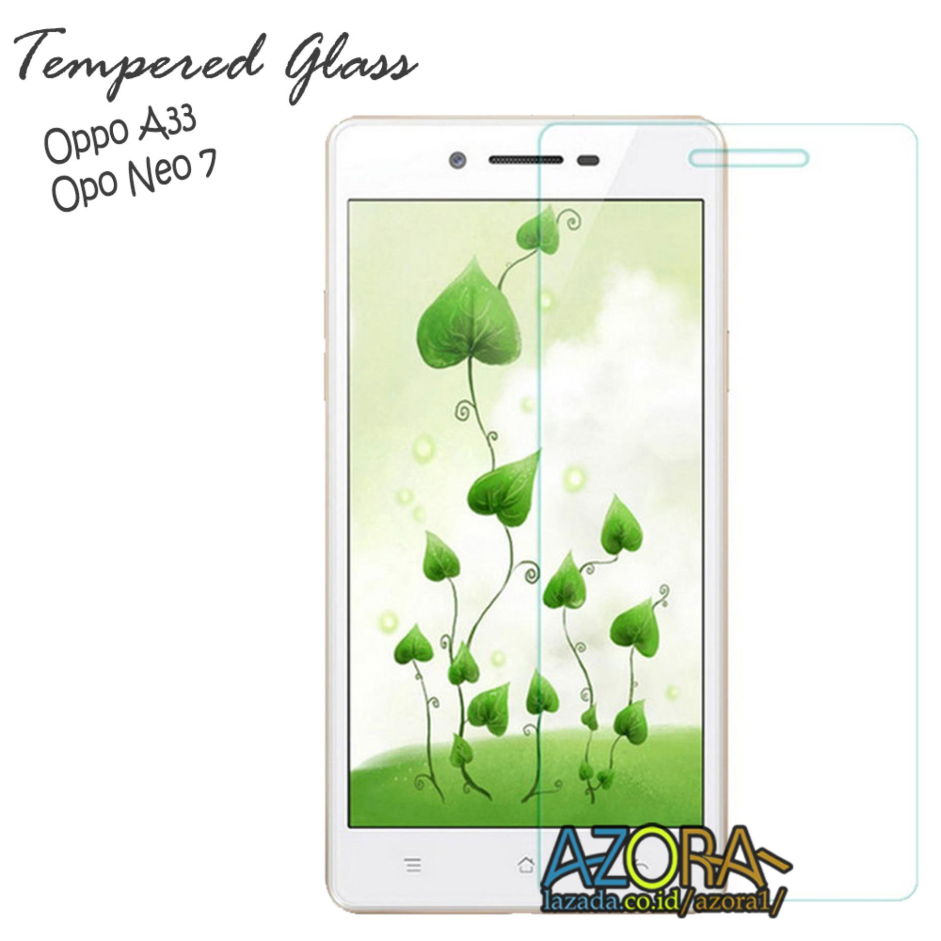 Tempered Glass Oppo Neo 7 / A33 Screen Protector Pelindung Layar Kaca Anti Gores - Bening