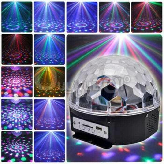 Speaker Lampu Disco - Led Crystal Magic Ball Light