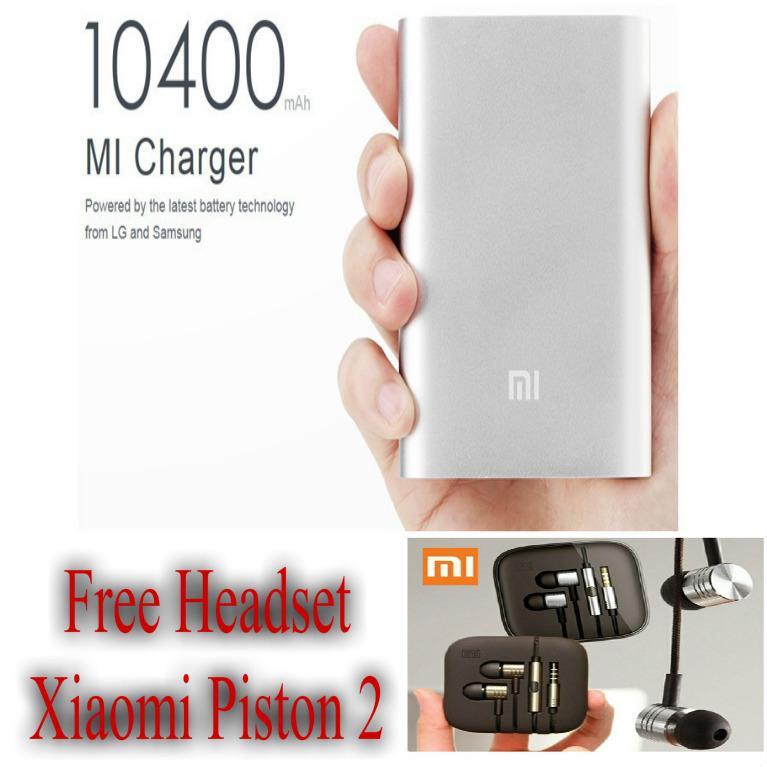 Xiaomi Power Bank 10400 mAh Warna Random Free Headset Xiaomi Piston 2 - HKN d5f63514b0