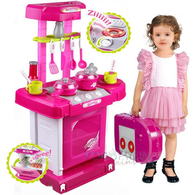 KITCHEN SET KOPER PINK - MAINAN ANAK MASAK MASAKAN