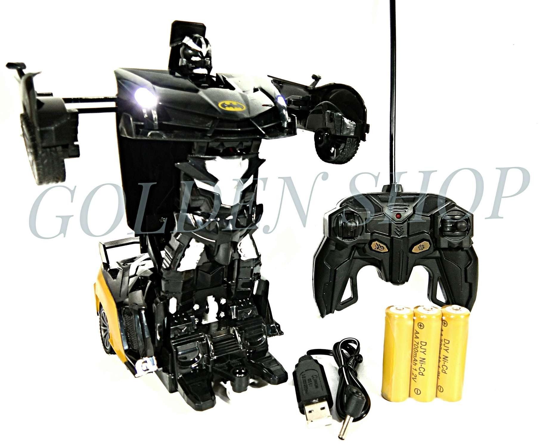 Detail Gambar Mainan Mobil Remote Control RC Robot Union Legend Deformation Car Batman Terbaru