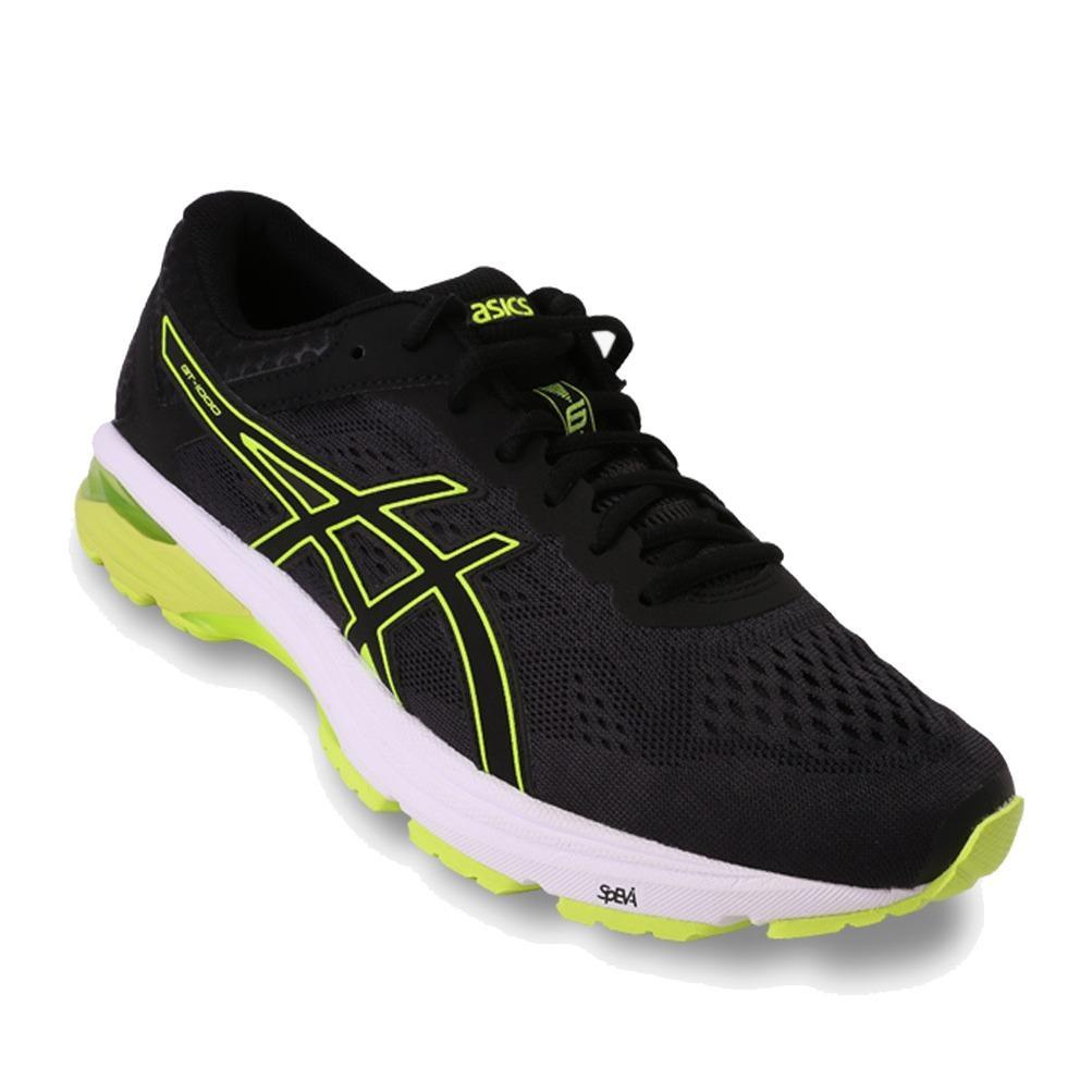 Asics GT-1000 6 Men's Running Shoes - Standard Wide - Hitam