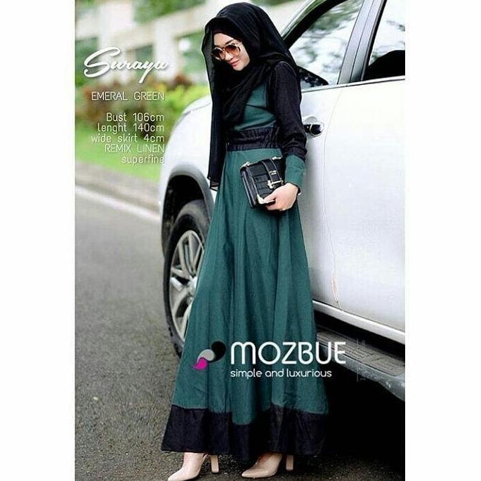 dress muslimah murah SURAYA DRESS baju gamis remaja