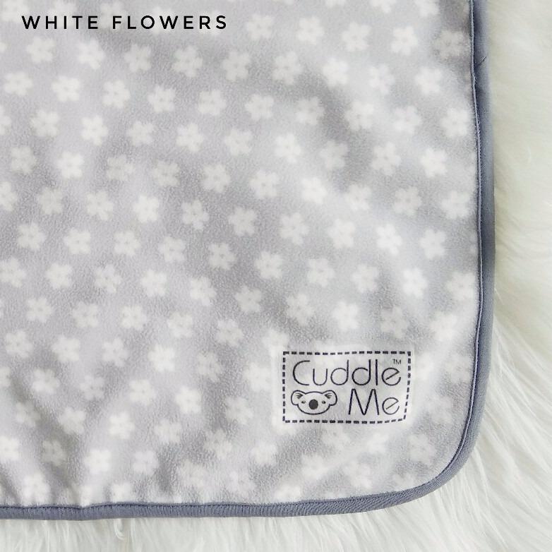 Beli Cuddleme Dry Pad Perlak Bayi Matrass Protector White Flower Cicilan