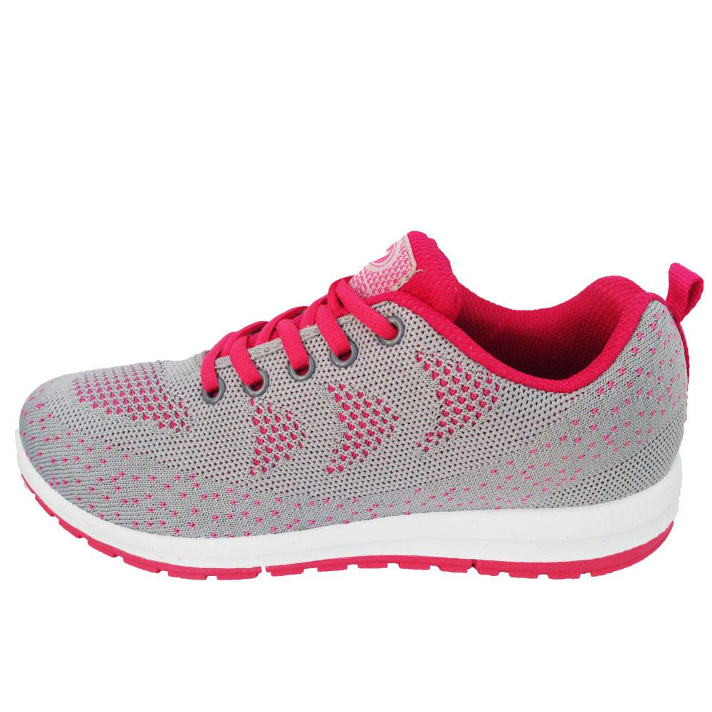 New Era Beverly Sepatu Casual Sepatu olahraga warna Abu Fuschia
