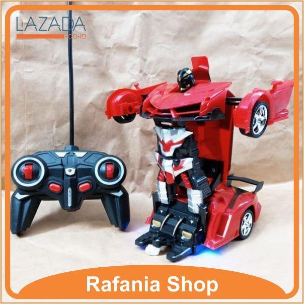 ... RC Mobil Berubah Robot Remote Control Transform Car Remot Kontrol - 3