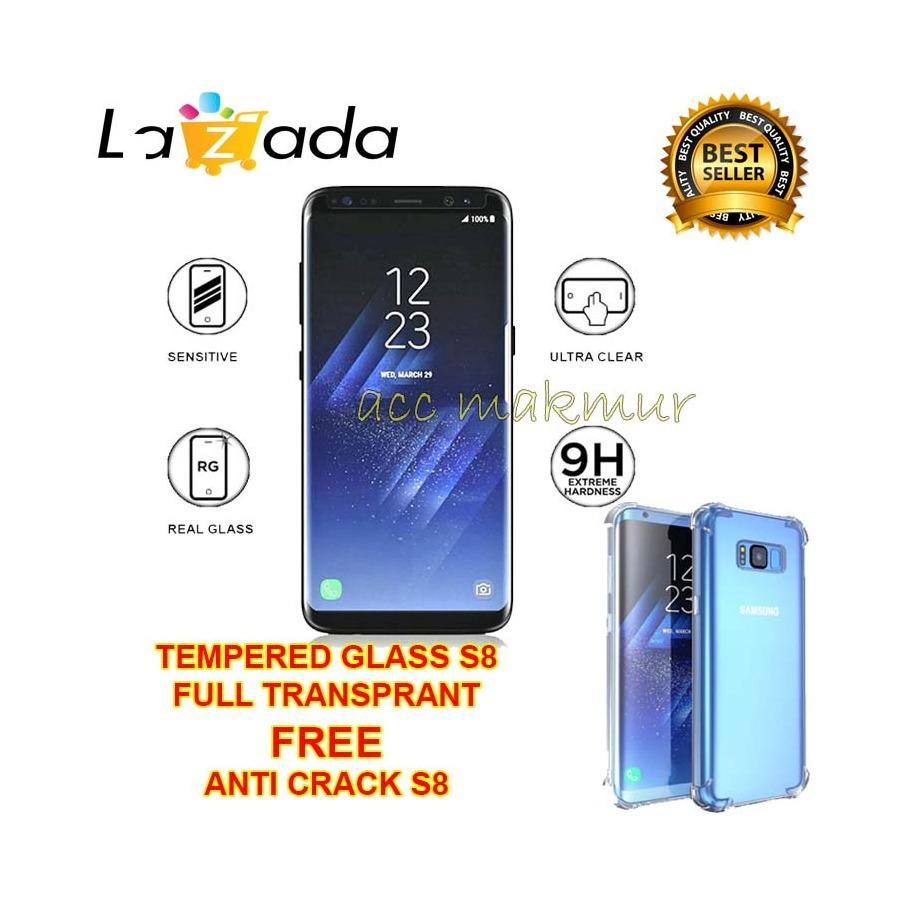 Anti Gores Samsung Galaxy S8pluss8 Shock Transparan Daftar Case Gkk 360 S8 Plus G950fd S7 Edge Dan Flat Original Acc Tempered Glass Screen Protector Guard Full Transparant Free