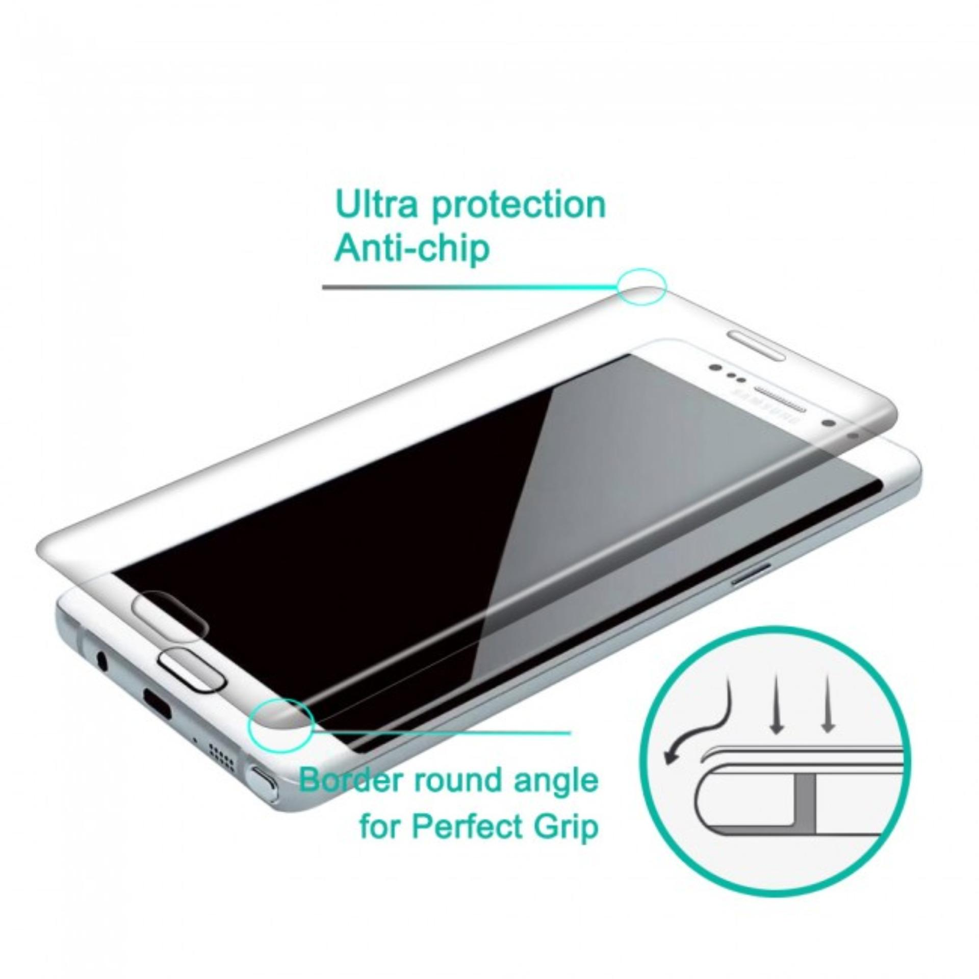 Detail Gambar Grace Samsung Galaxy Note FE Fan Edition 5 7 inch Tempered Glass 3D Curved Full Cover Emas Terbaru