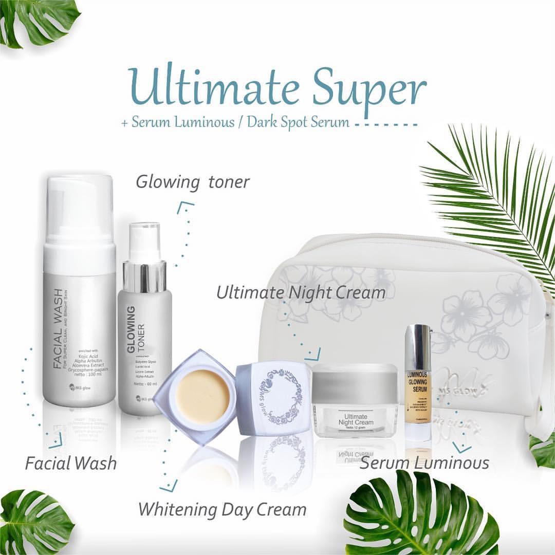Paket MS Glow Ultimate Super - Paket Penghilang Flek Wajah by Cantikskincare - Skin Care Original