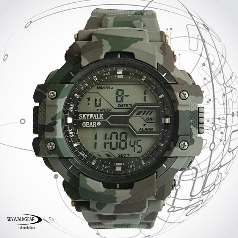 Promo Skywalkgear Blade Jam Tangan Digital Tahan Air 5002 Army Green Di Jawa Barat