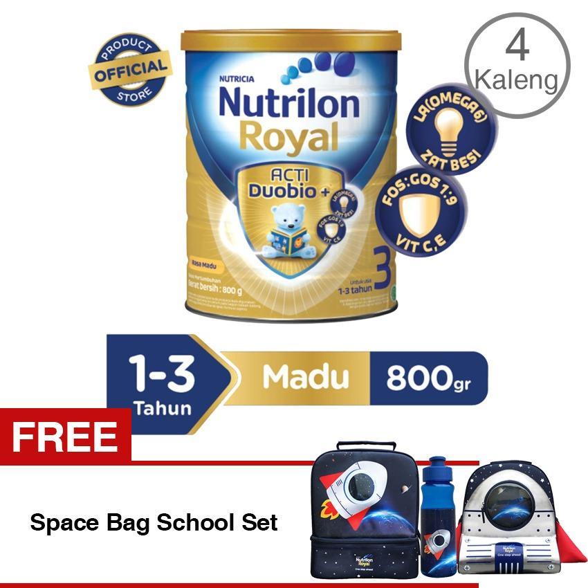 Nutrilon Royal Actiduobio 3 Susu Pertumbuhan - Madu - 800gr Bundle 4 kaleng + FREE Space