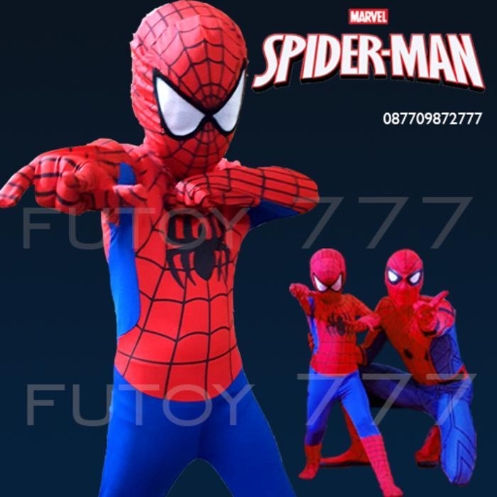Spiderman Spider man Kostum Baju Anak Laki Cosplay Ulang Tahun Ultah