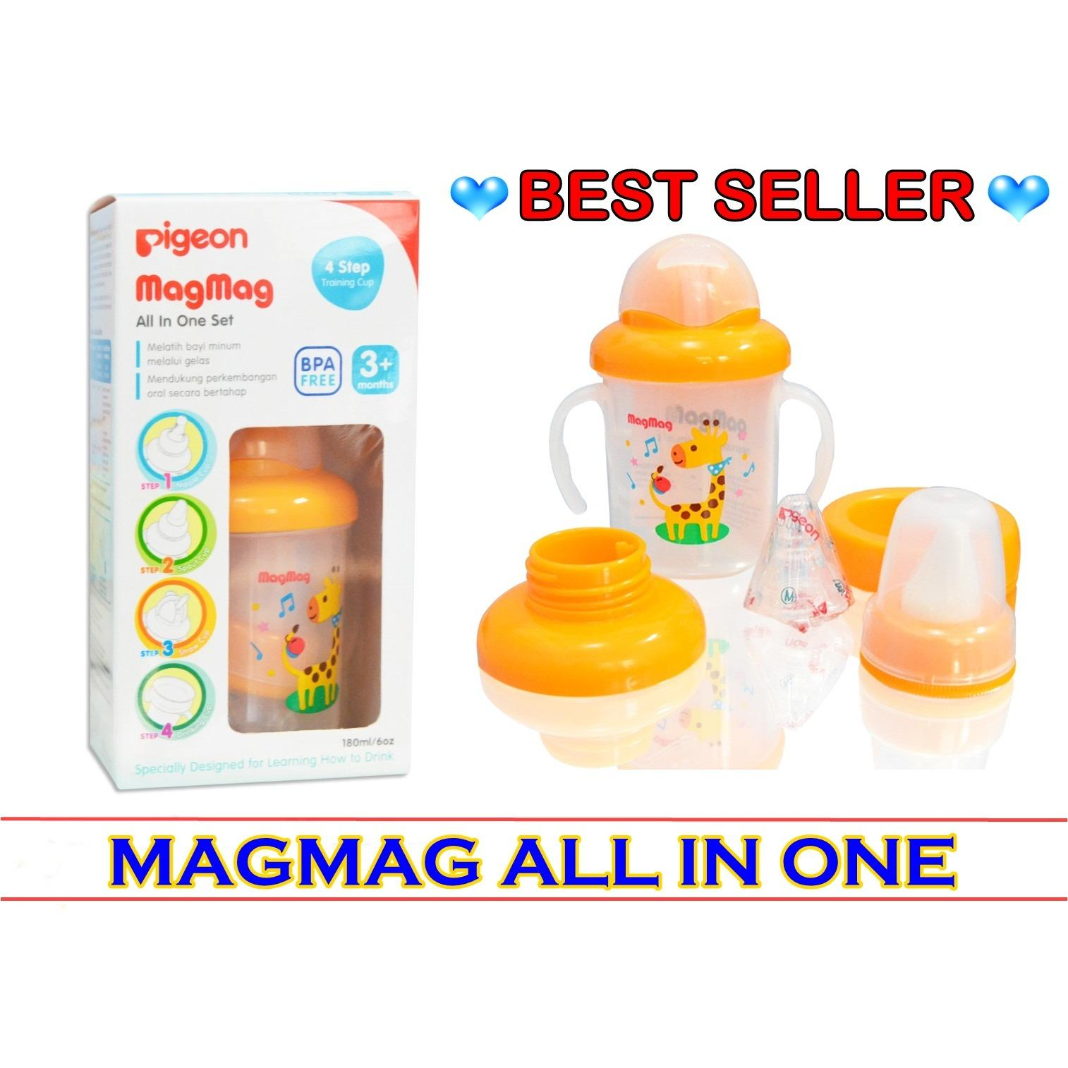 Harga Pigeon Magmag All In One Training Cup Step 1 2 3 4 Satu Set
