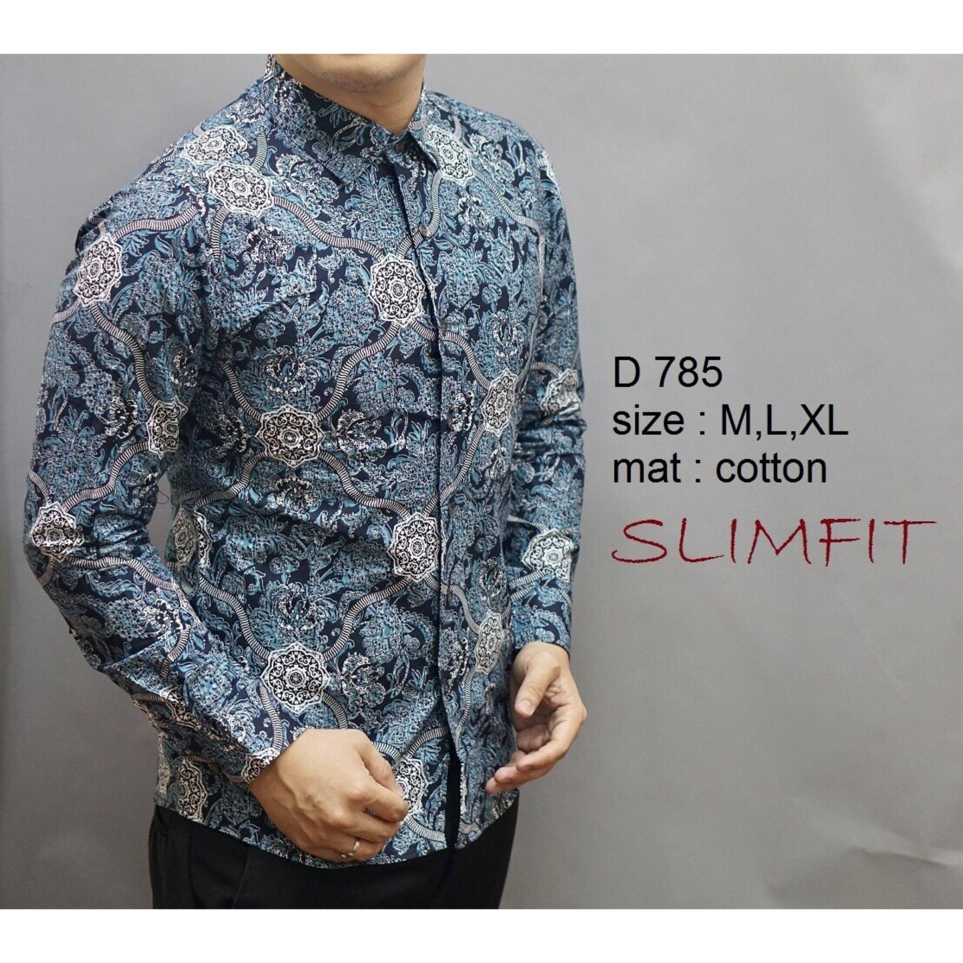 Harga Batik Pria Keren Kameja Slim Batik Yg Bagus