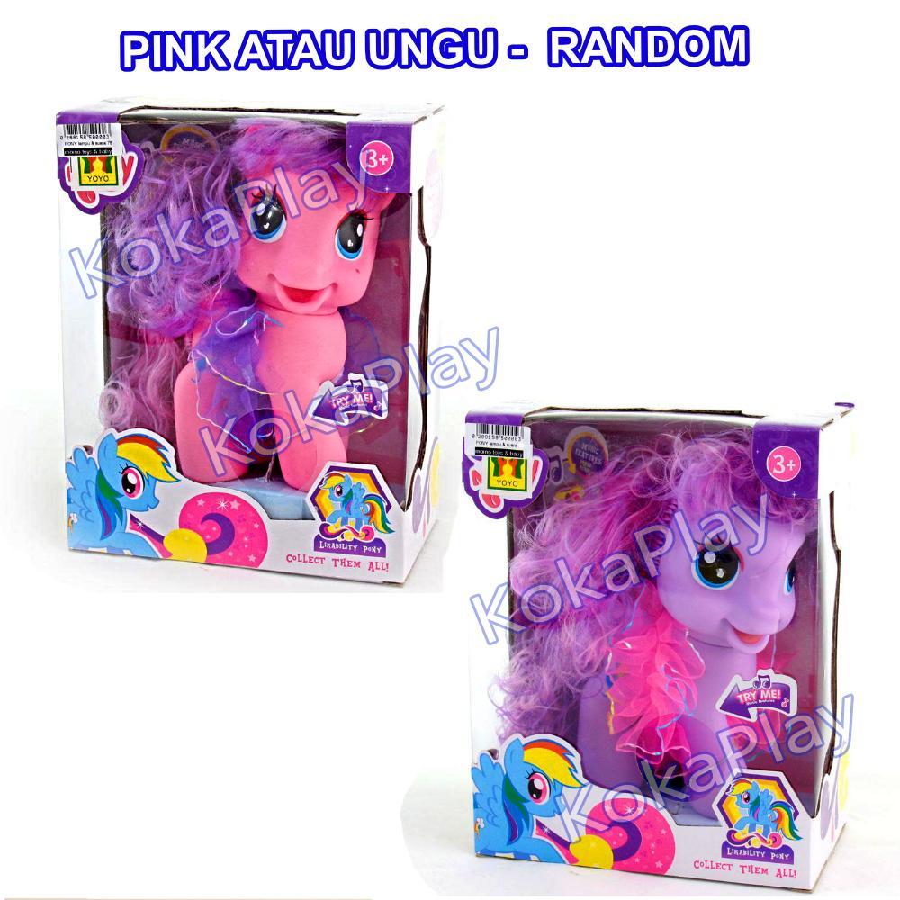 KokaPlay My Lovely Horse Likability Pony My Little Pony Mainan Anak Boneka Kuda Mini Cantik Musik Lampu Dandan Cute - Random 1 2.jpg