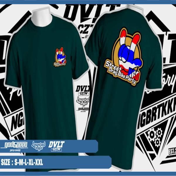 Kaos/T-Shirt Thailook Street Drag Bike Party Logo Full Colour