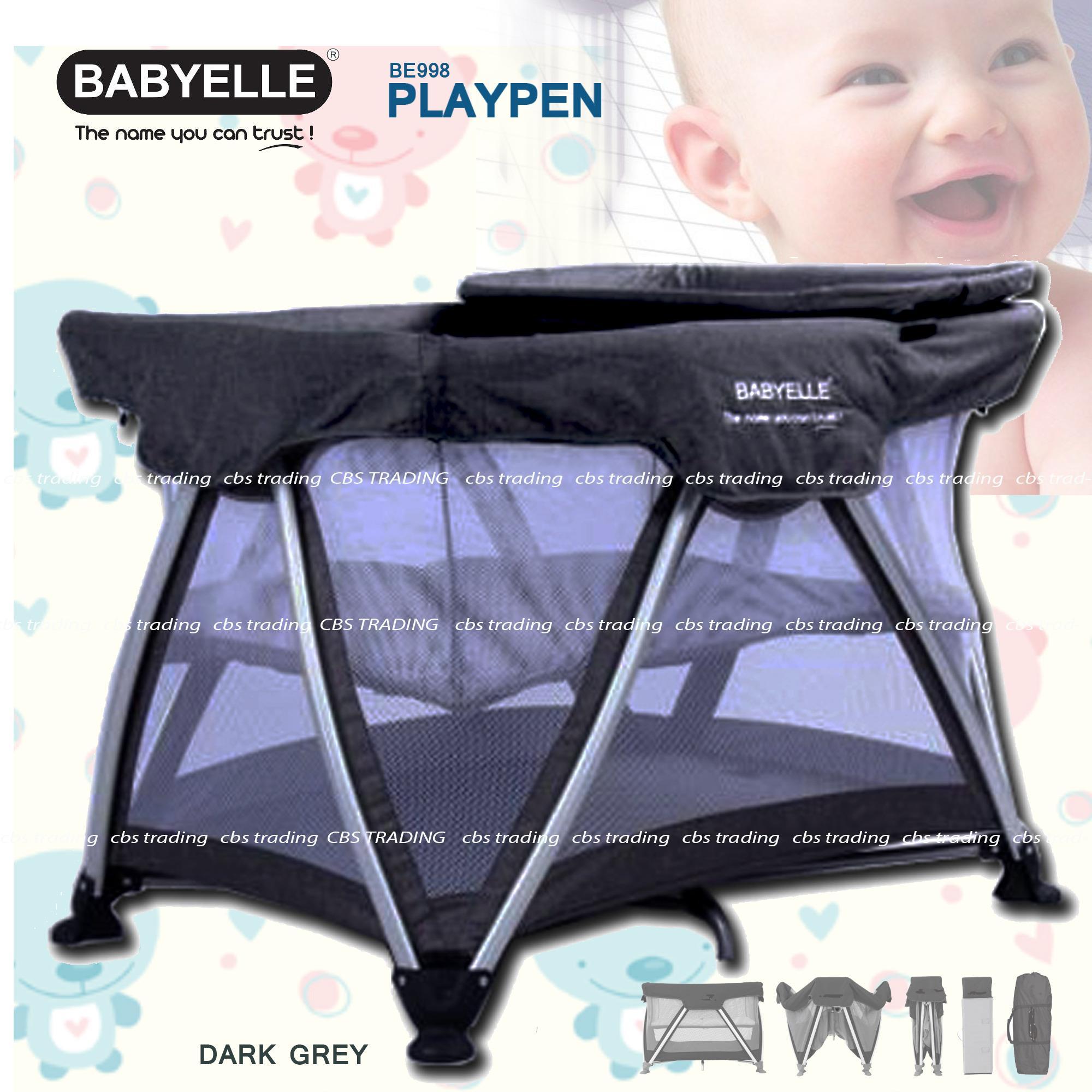 Babyelle Baby Box Playard Playpen New 998 - Box Bayi - Ranjang Bayi - Abu2 By Cbs Trading.