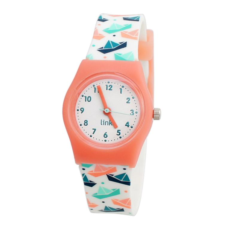 Linkgraphix Playhour - PA06 Floating - Jam Tangan Anak / Remaja - Peach