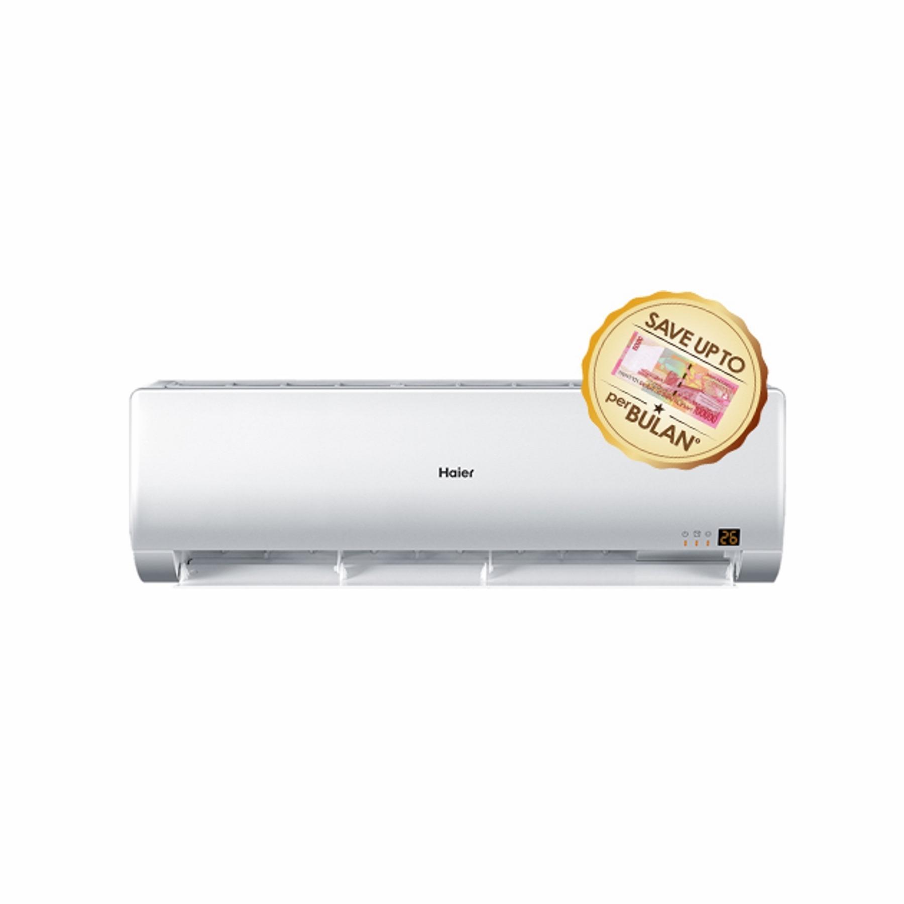 Haier AC 1 PK HSU09ECO03LW Low Watt – Putih - Khusus Jadetabek