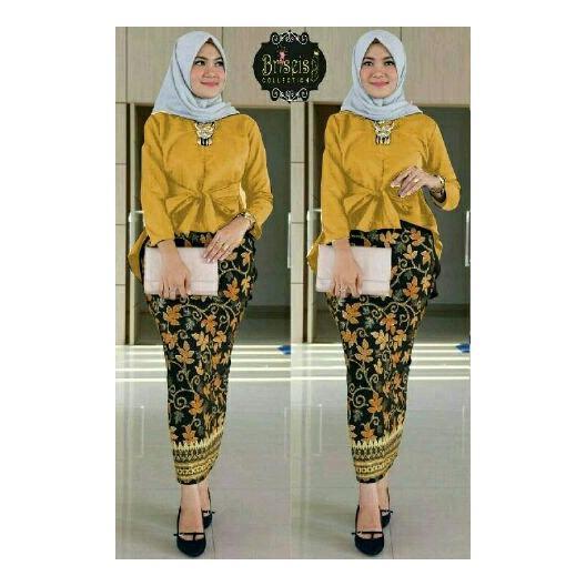 Ulasan Lengkap Tentang Honeyclothing Setelan Kebaya Wanita Bilqes Mustard Kebaya Kutubaru Setelan Batik Baju Wanita Best Seller