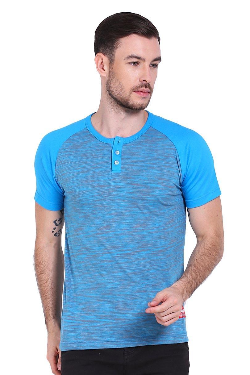 harga Skaters T-Shirt Kaos Pria TSH REG BUTTON MLXL-0548 STRIPED BLUE Lazada.co.id