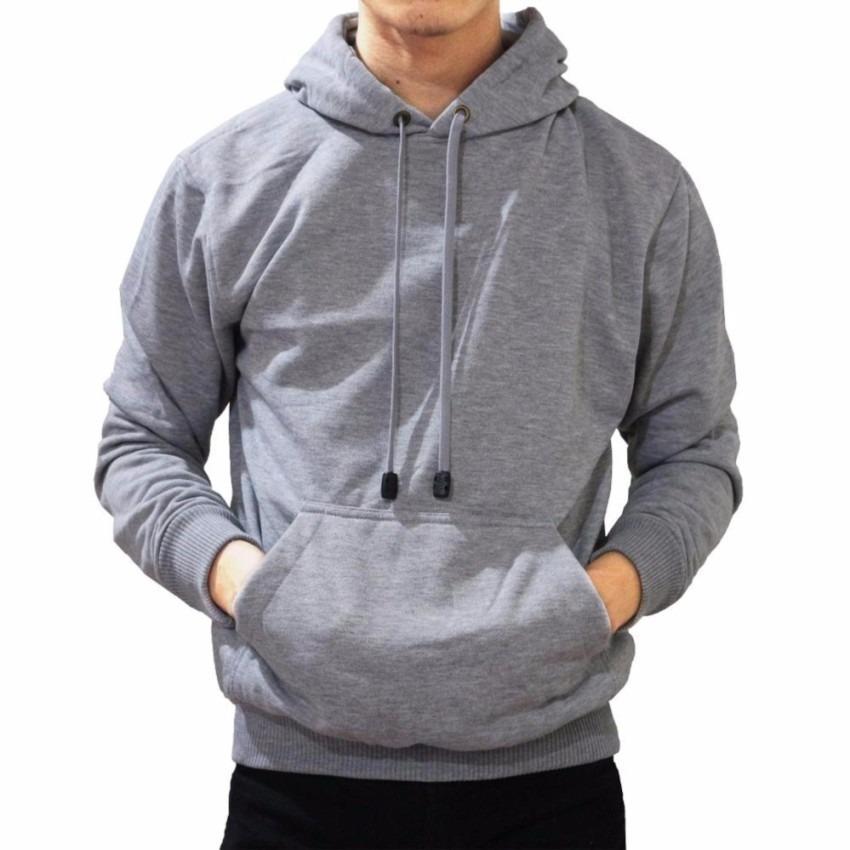 Jaket Sweater Hoodie Pria Jumper Polos Cotton Fleece