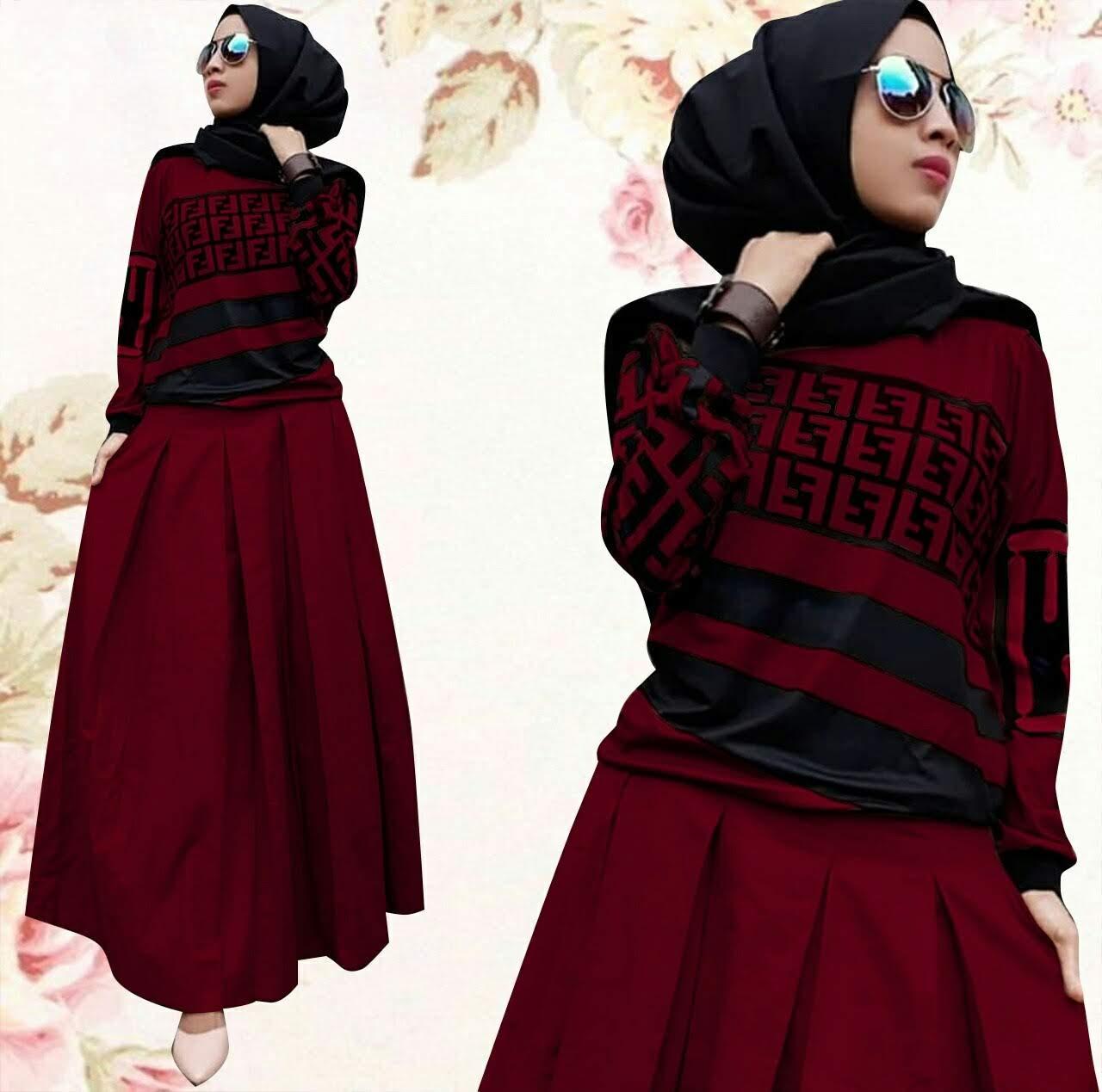Setelan Baju Wanita Muslim - Setelan Fendos - Fashionable