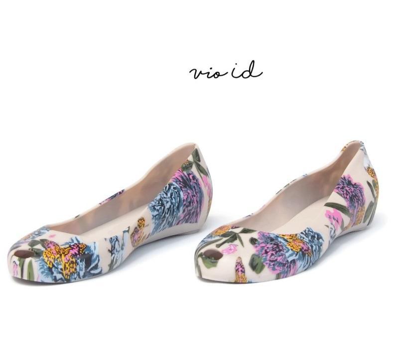Bara Bara - Flatshoes Jelly Wanita Motif Bunga Terbaru 1838MSB