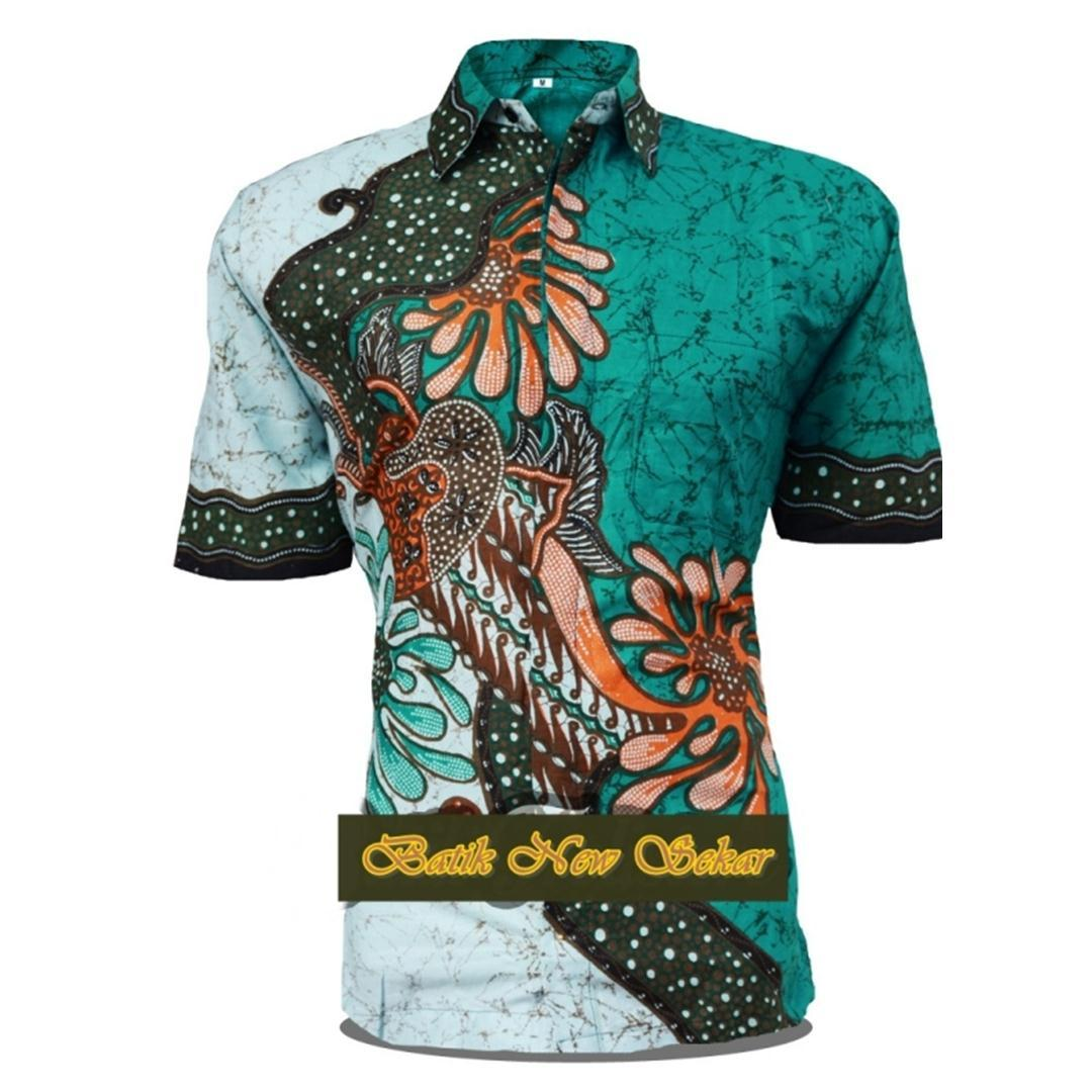 Batik Pekalongan   Fashion Pria   Pakaian   Kemeja Batik Pria   Hem Batik  Pria   638380096d