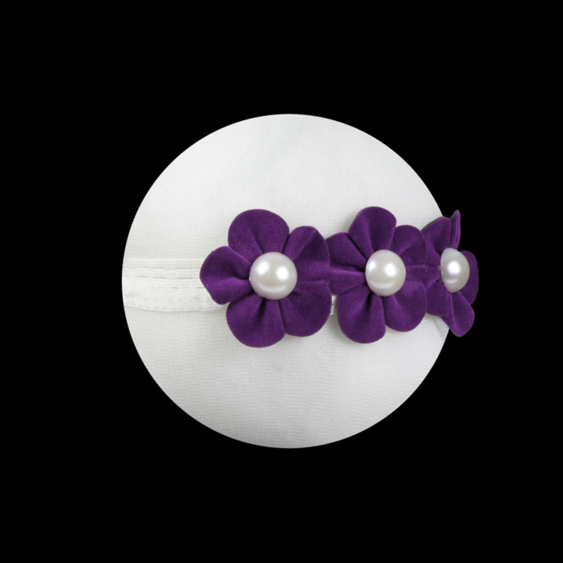 Tamagoo Headband Baby Girl Aksesoris Bayi Perempuan - Monic Purple