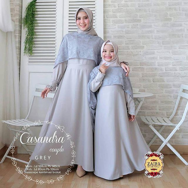 Fitur Casandra Couple Baju Gamis Casual Ibu Anak Dan Harga Terbaru