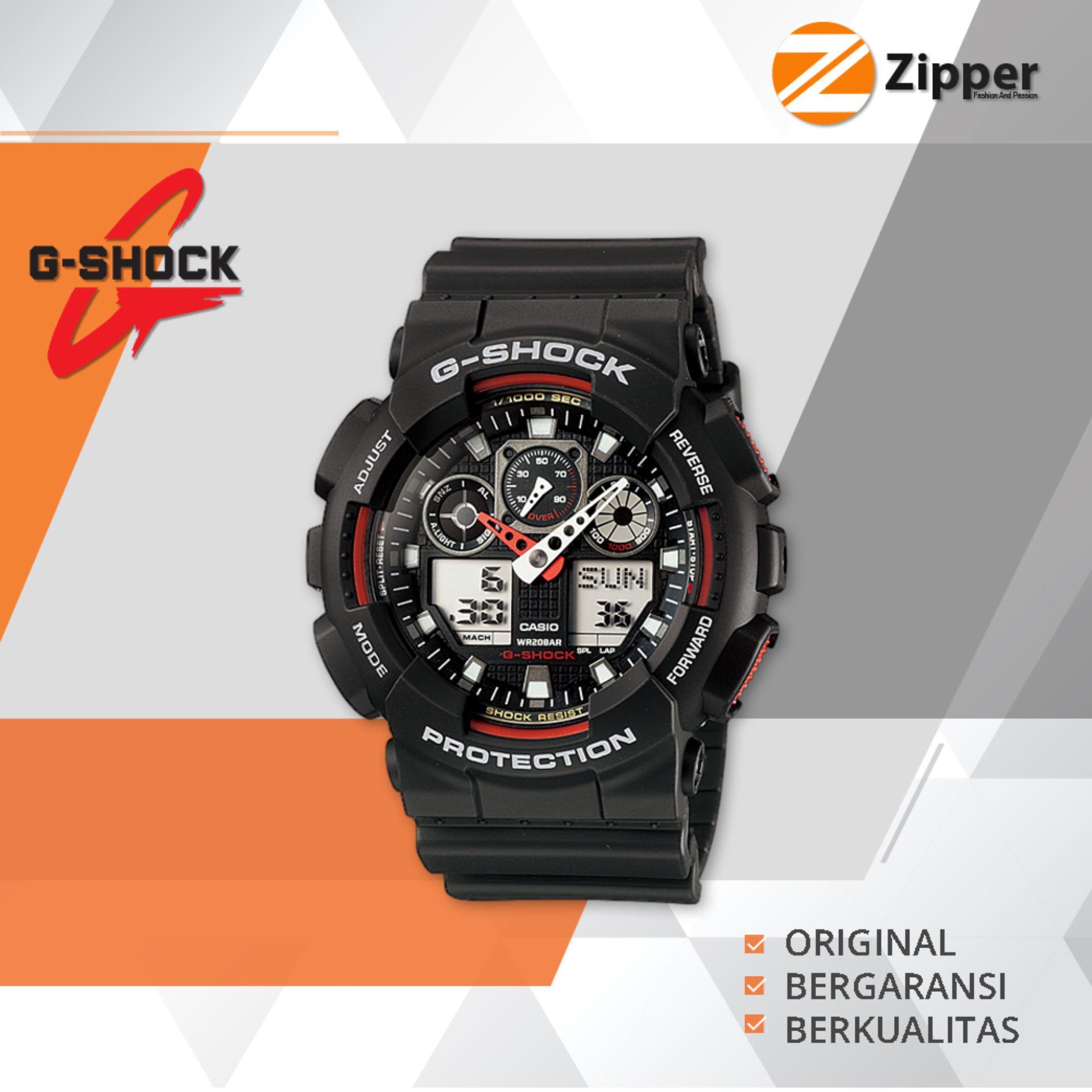 Casio G Shock Jam Tangan Pria Analog Digital Ga 100 Series Tali Karet Original