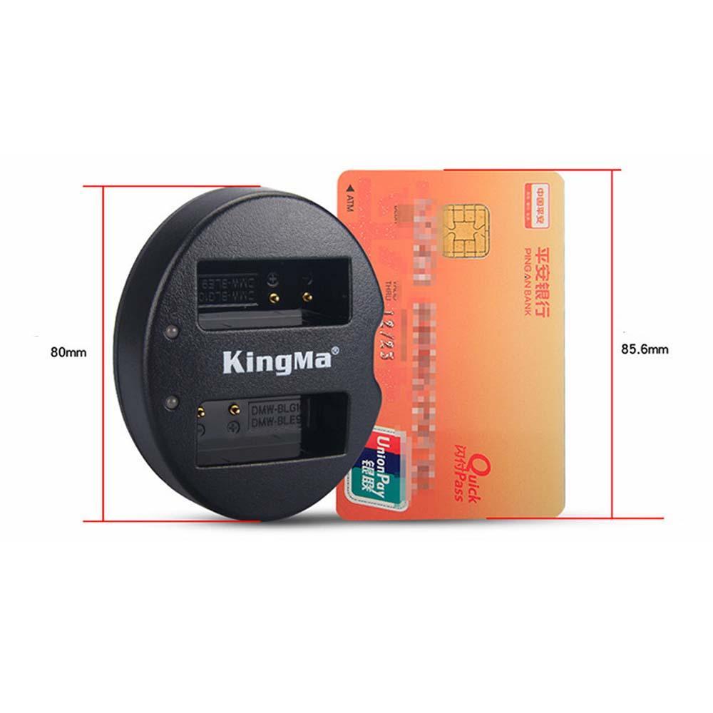 KingMa Charger DMW-BLG10 BLE9 Panasonic LUMIX Battery GF3 GF5 GF6 GX7 GX85 LX100 FX100 ZS110 GM1 Etc - 5