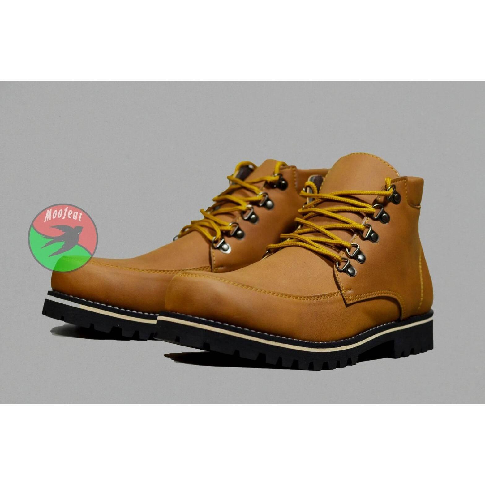 Cek Harga Baru Sepatu Moofeat Gibson Casual Boots Slip On Pria Kerja Lunnar Tan Formal Santai Original Handmade Hunting