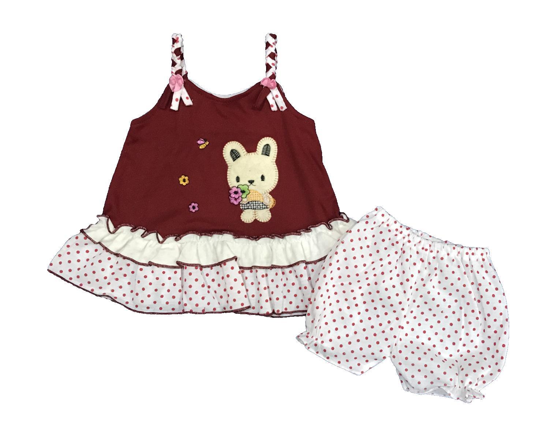 BAYIe - Setelan Baju bayi Perempuan motif RABBIT PLANET KIDS usia 0 - 6 bulan /